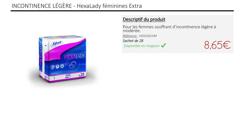 Hexalady - Protections féminines